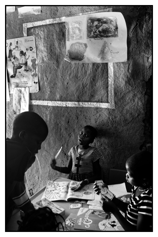 Namibie. École rudimentaire.